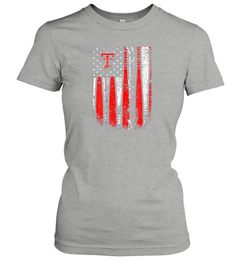 lkis texas tech red raiders baseball flag team name ladies t shirt 20 front ash