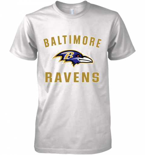 bns3 mens baltimore ravens nfl pro line by fanatics branded gray victory arch t shirt premium guys tee 5 front white