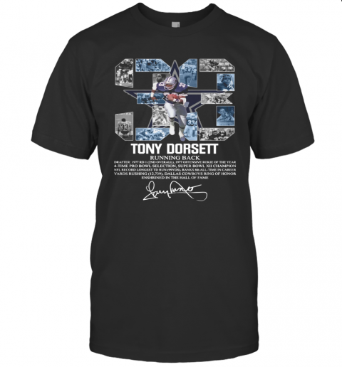 33 Tony Dorsett Running Back Signature shirt T-Shirt