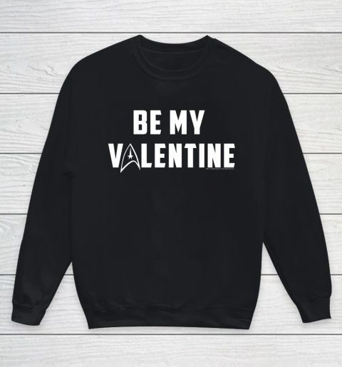 Star Trek Be My Valentine Delta Badge Graphic Youth Sweatshirt