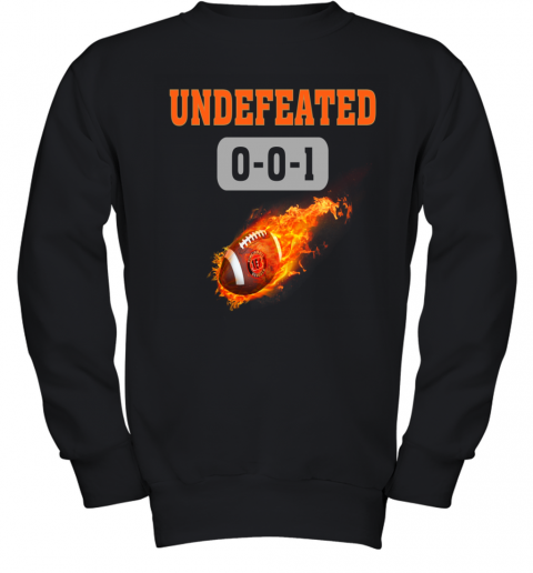NFL CINCINNATI BENGALS LOGO Undefeated Youth Sweatshirt