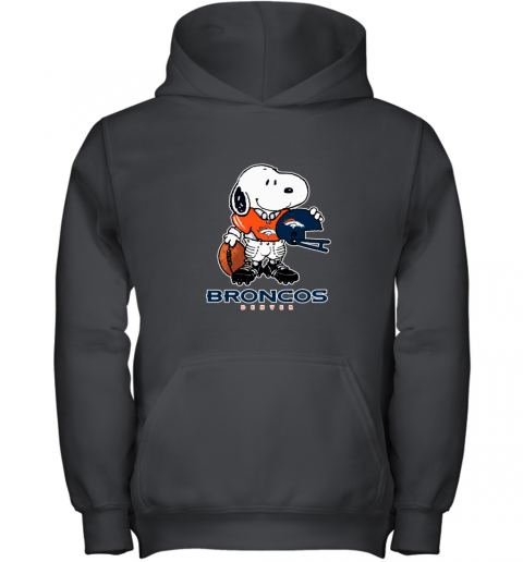 Snoopy Strong And Proud Denver Broncos Player NFL Youth Hoodie