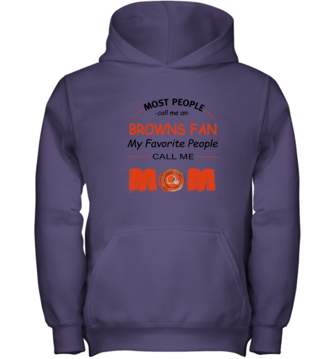 l0uq most people call me cleveland browns fan football mom youth hoodie 43 front purple