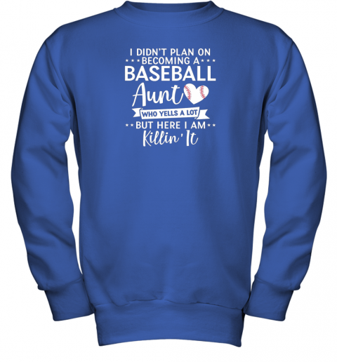 skxs i didn39 t plan on becoming a baseball aunt gift youth sweatshirt 47 front royal