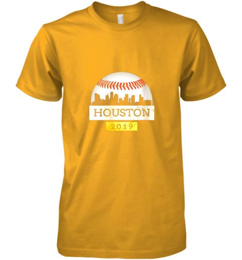 y1xb houston baseball shirt 2019 astro skyline on giant ball premium guys tee 5 front gold