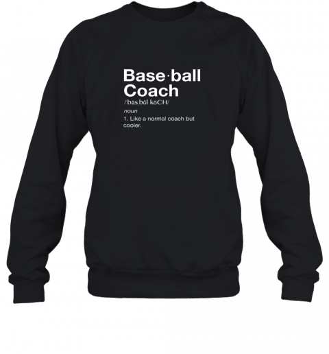 Coach Baseball Shirt Team Coaching Sweatshirt