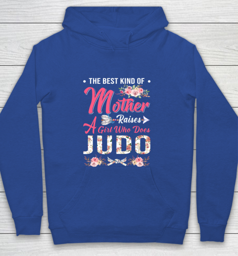 Judo the best kind of mother raises a girl Youth Hoodie 6
