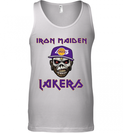 NBA Los Angeles Lakers Iron Maiden Rock Band Music Basketball Tank Top