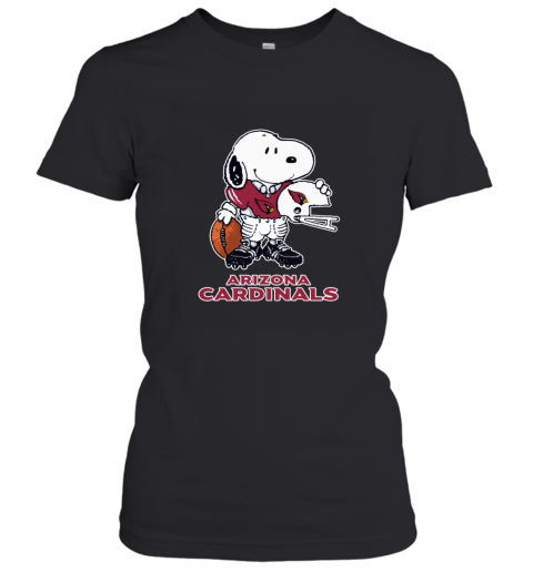 Snoopy A Strong And Proud Arizona Cardinals NFL Women's T-Shirt
