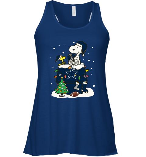 A Happy Christmas With Dallas Cowboys Snoopy Racerback Tank