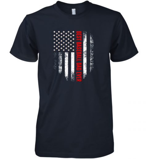 d4b4 vintage usa best baseball dad ever american flag daddy gift premium guys tee 5 front midnight navy