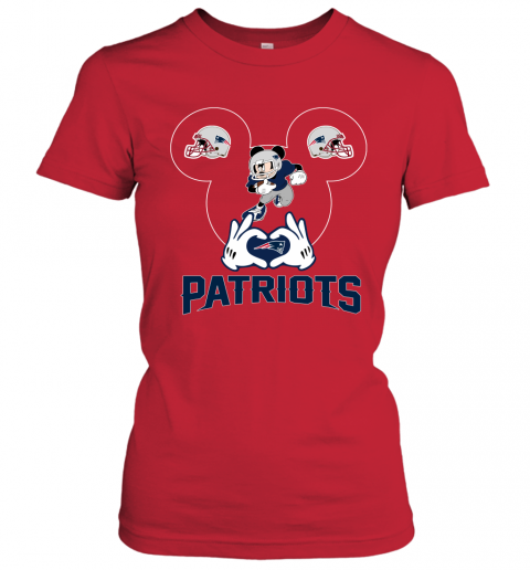 ttdd i love the patriots mickey mouse new england patriots ladies t shirt 20 front red