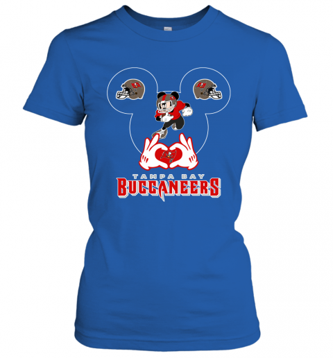 lrql i love the buccaneers mickey mouse tampa bay buccaneers s ladies t shirt 20 front royal