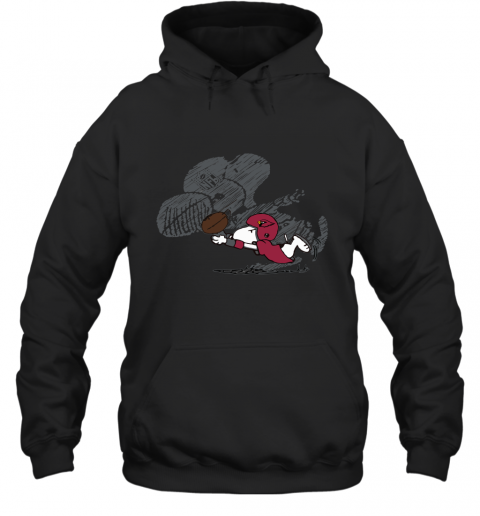 Arizona Cardinals Snoopy Plays The Football Game Hoodie