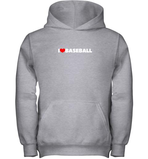 pymg i love heart baseball youth hoodie 43 front sport grey