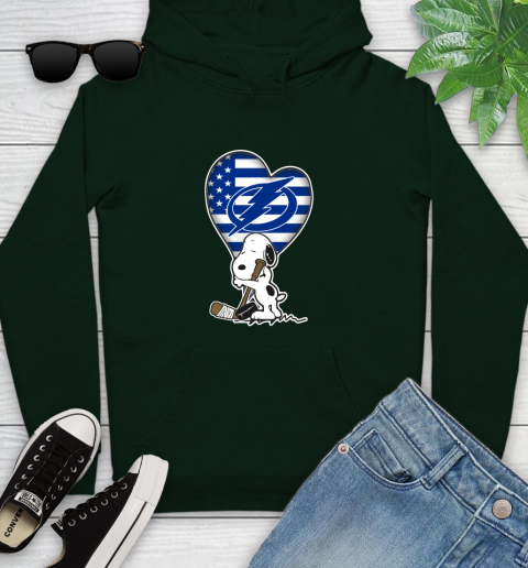Tampa Bay Lightning NHL Hockey The Peanuts Movie Adorable Snoopy Youth Hoodie 13
