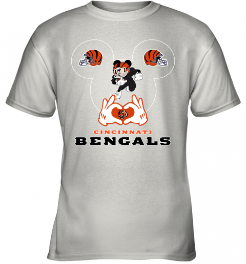 I Love The Bengals Mickey Mouse Cincinnati Bengals Youth T-Shirt