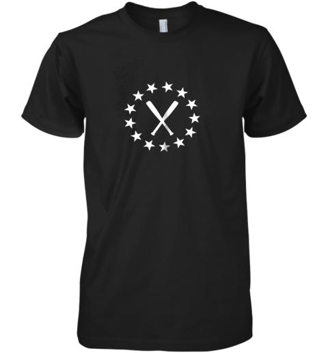 Baseball with Bats Shirt Baseballin Player Gear Gifts Premium Men's T-Shirt