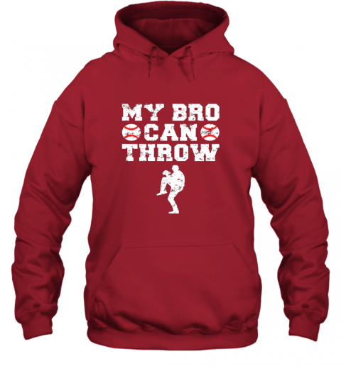 57ly kids cute baseball brother sister funny shirt cool gift pitcher hoodie 23 front red