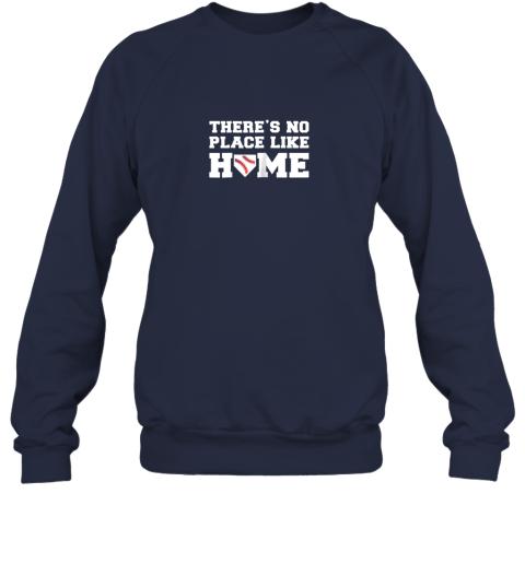 iyrn there39 s no place like home baseball shirt kids baseball tee sweatshirt 35 front navy