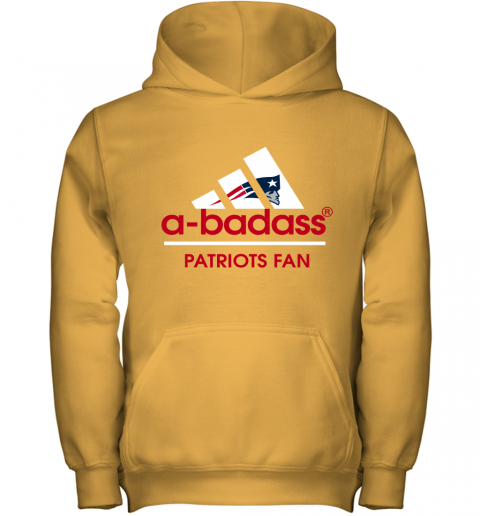 onds a badass new england patriots mashup adidas nfl shirts youth hoodie 43 front gold
