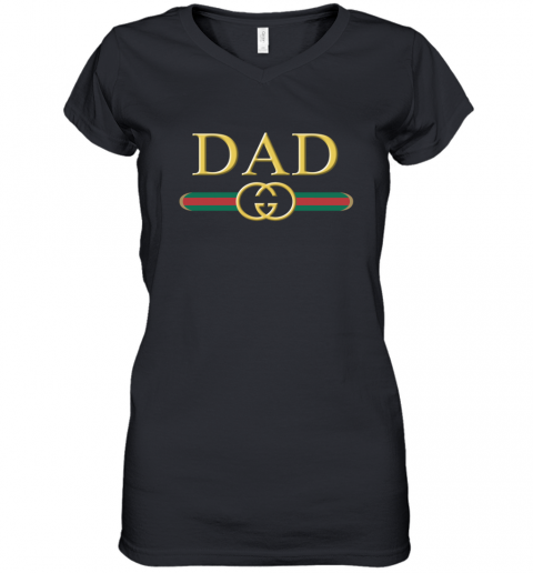 Great Dad Gucci Family Women's V-Neck T-Shirt