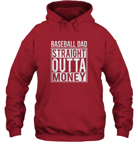 ngo6 mens baseball dad straight outta money shirt i funny pitch gift hoodie 23 front red