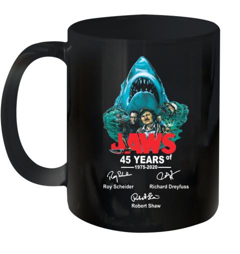 45 years of Jaws 1975 2020 signatures shirt Ceramic Mug 11oz