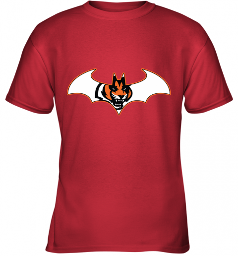 ls45 we are the cincinnati bengals batman nfl mashup youth t shirt 26 front red