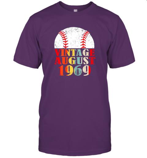 gxor born august 1969 baseball shirt 50th birthday gifts jersey t shirt 60 front team purple