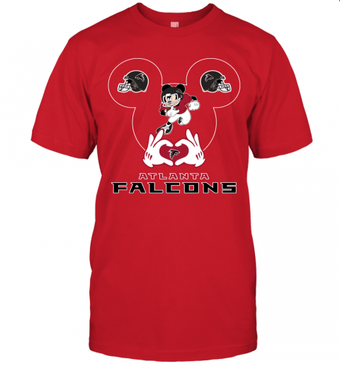 zgyh i love the falcons mickey mouse atlanta falcons jersey t shirt 60 front red