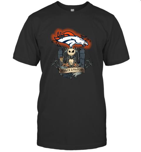 Denver Broncos Jack Skellington This Is Halloween T-Shirt