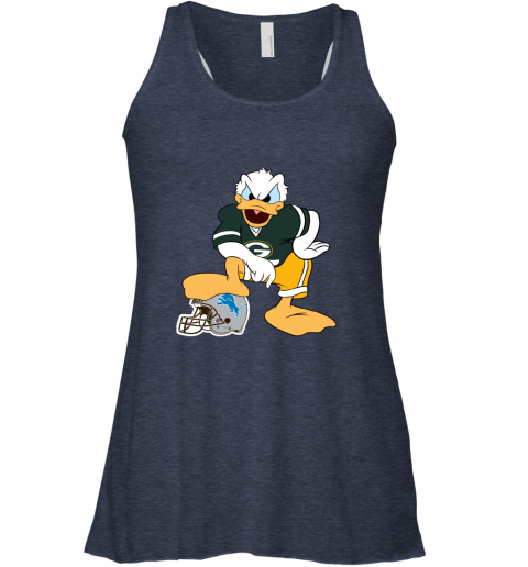 9qmn you cannot win against the donald green bay packers nfl flowy tank 32 front heather navy