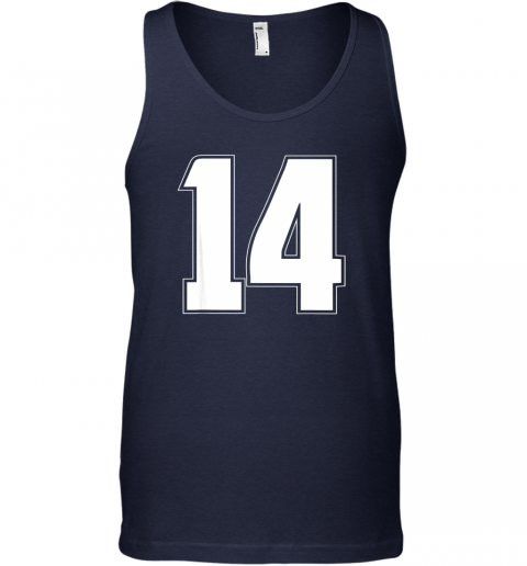 um7d halloween group costume 14 sport jersey number 14 14th bday unisex tank 17 front navy