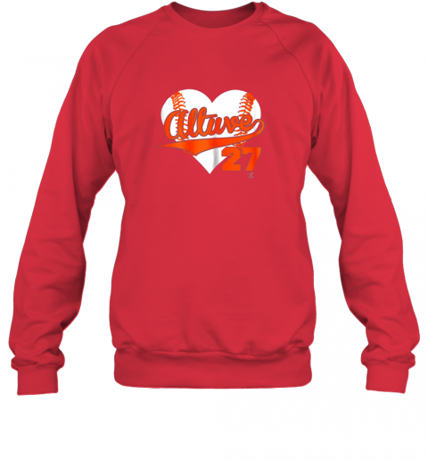 jzqw jose altuve baseball heart shirtapparel sweatshirt 35 front red