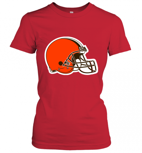 8oqz cleveland browns nfl pro line by fanatics branded brown victory ladies t shirt 20 front red