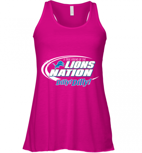 lvth a true friend of the lions nation flowy tank 32 front neon pink