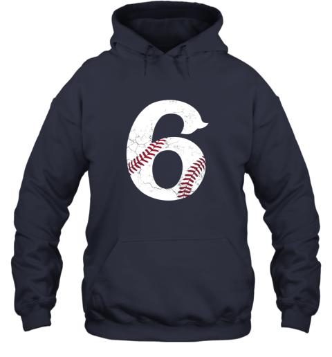 f1zu kids happy birthday 6th 6 year old baseball gift boys girls 2013 hoodie 23 front navy