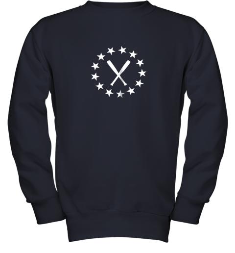 ecxv baseball with bats shirt baseballin player gear gifts youth sweatshirt 47 front navy