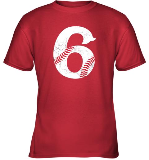 6bm4 kids happy birthday 6th 6 year old baseball gift boys girls 2013 youth t shirt 26 front red