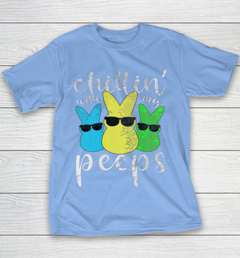 Chillin With My Peeps Boys Men Easter Day 2021 Bunny Youth T-Shirt 8