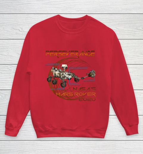 Schematic Perseverance The New NASA Mars Rover 2020 Youth Sweatshirt 7