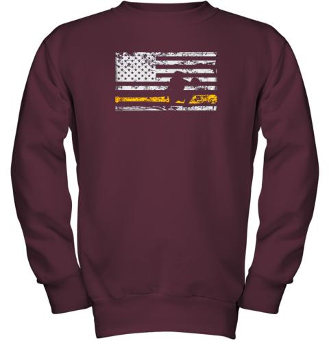 d8bq softball catcher shirts baseball catcher american flag youth sweatshirt 47 front maroon
