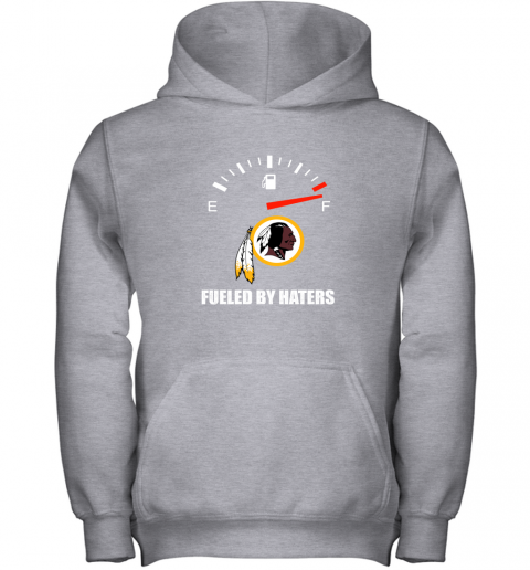 bqtq fueled by haters maximum fuel washington redskins youth hoodie 43 front sport grey