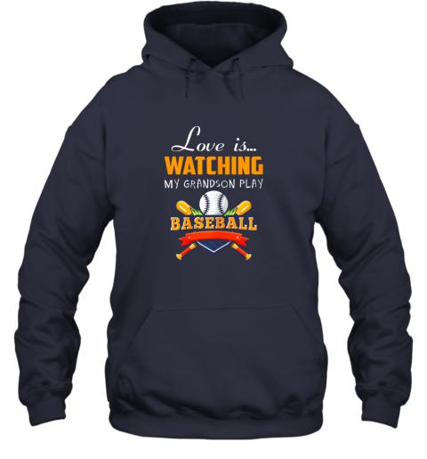 0jrm love is watching my grandson play baseball shirt grandma hoodie 23 front navy
