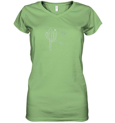 q2jt cactus baseball bat image shirt for america39 s pastime fan women v neck t shirt 39 front lime