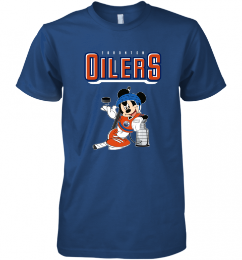 ozot mickey edmonton oilers with the stanley cup hockey nhl shirt premium guys tee 5 front royal