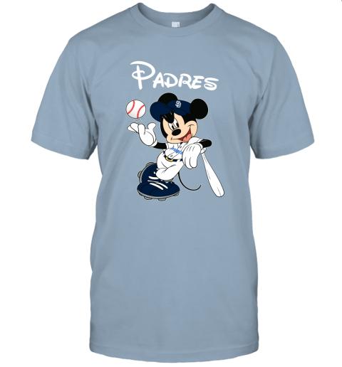 1qaa baseball mickey team san diego padres jersey t shirt 60 front light blue