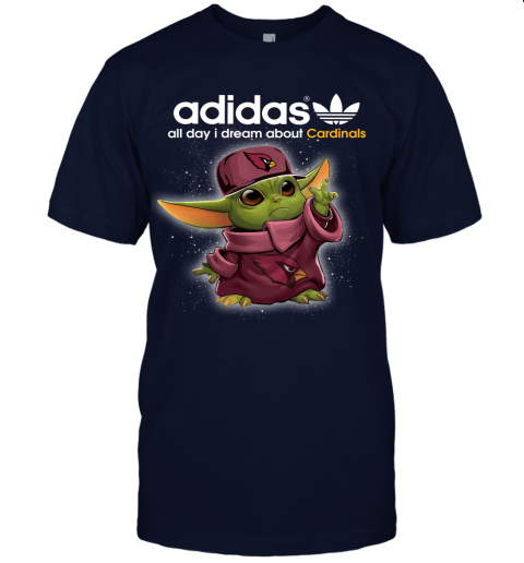 Baby Yoda Adidas All Day I Dream About Arizona Cardinals Unisex Jersey Tee