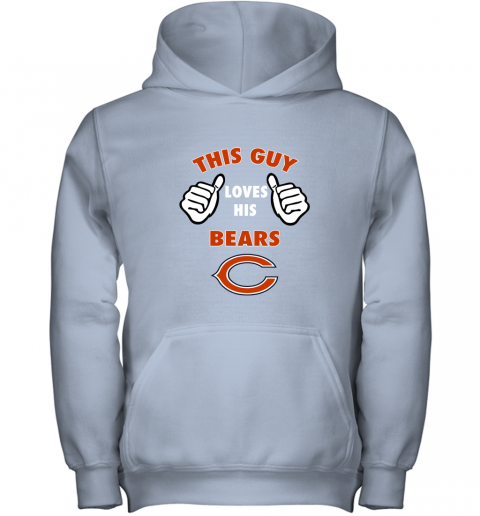 apve this guy loves his chicago bears shirts youth hoodie 43 front light pink